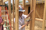First Lady Cecilia Abbott Visits Houston Habitat for Humanity Women Build