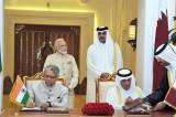 India and Qatar ink 7 agreements; to share intel on hawala, terror financing