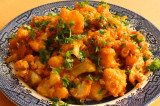 Mama's Punjabi Recipes: Aaloo Gobi di Sabzi (Sauteed Potatoes & Cauliflower)