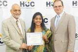FIS Presents Mentorship Certificate to HCC Graduate from Telangana