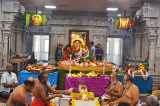 Sri Meenakshi Temple Society Celebrated Guru Peyarchi Homam & Abhishekam