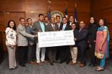 SIMA, Leuva Patidar & Bhakta Groups Donate to Mayor's Harvey Relief Fund