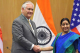 Protect India's interests on H-1B visa issue: Swaraj to Tillerson