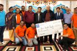 Amir Dodhiya, Agent with New York Life Insurance Felicitates Sanatan Shiv Shakti Temple for its Philanthropic Act During Harvey!