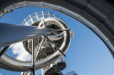 Dare to ride this nine-story tall slide created by Belgian artist in Miami?