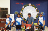 Nitin Sonawane Stops in Houston During his World Bicycle Tour