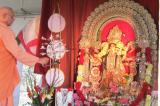 Record Attendance at the Season's First Durga Puja at Vedanta Society