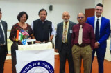 Justice Hegde Lauds Narendra Modi's Win at FIS Distinguished Lecture