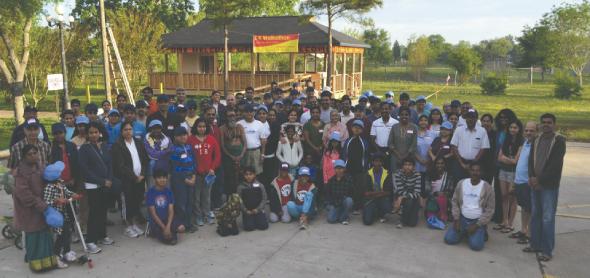 Participants and organizers at the MTS 5k Walkathon.
