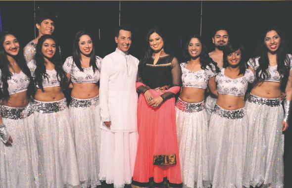 Naach Houston dancers with Richa Sharma Photos: Avaish Lalani
