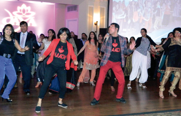 The entertainment highlight of the evening were interactive dance sessions in salsa, country line dancing and Bollywood.
