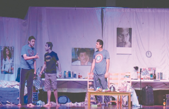A scene from the play ''Kaka Mala Vachva''
