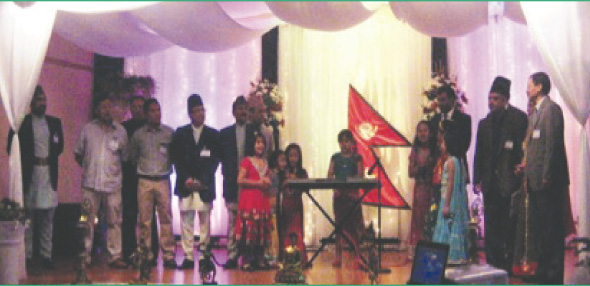 Scenes from the celebration of Nepal Day and arrival of Nepali New Year 2070. Over 300 people celebrated the night in a family-based environment and welcomed the arrival of new year 2070 Bikram Sambat.