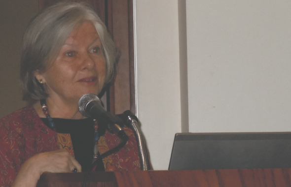 Kathleen M. O'Connell, professor of comparative literature at University of Toronto, was the keynote speaker.