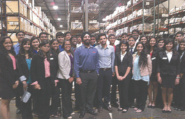 YLDP session #7 held at Unique Industries where Pankaj Malani and Bikram Singh spoke about entrepreneurship.