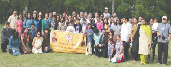Attendees at the VYASA Spring Yoga Retreat.