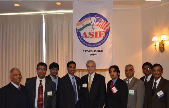 The speaker of the annual luncheon event, Mr. Daniel W. Krueger, P.E., the Director of Public Works and Engineering of City of Houston with ASIE Board Members.