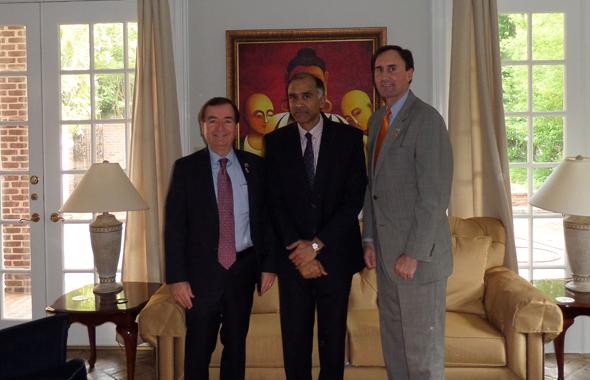 From left:  Congressman Ed Royce, Consul General P. Harish and Congressman Pete Olson.
