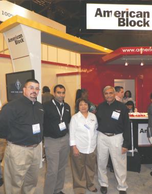 American Block pavillionDarshana and Rajini Shah (on right) with staff.
