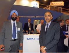 Indian Consul General at the Tata Steel exhibit.
