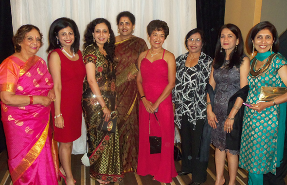 A number of members of the Indian American community attended the Tenth Annual Houston Technology Gala on Thursday, May 16 at the Hyatt Regency Downtown where several Indian American entrepreneurs were honored. At center left is Nandita Harish, wife of the Indian Consul General and to her right is Marie Goradia, wife of Honoree Vijay Goradia.                              Photo: Jawahar Malhotra