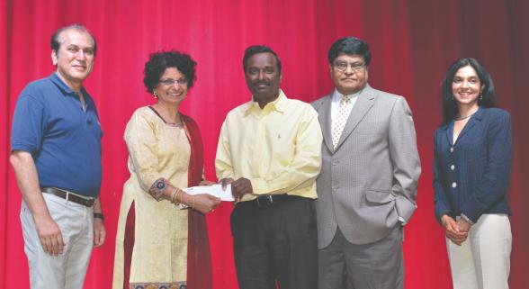 From left: Jawahar Malhotra, Kanchan Kabad, Ramesh Cherivirala, Murthy Divakaruni and Lakshmi Naik