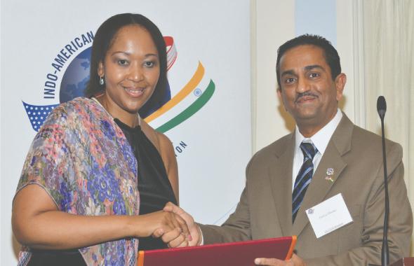IACCGH President Pankaj Dhume with Madam Zuma.