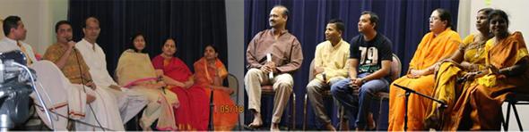 Participants during the Pariprashnena Quiz.             Photos: Nagalla Nagaraj