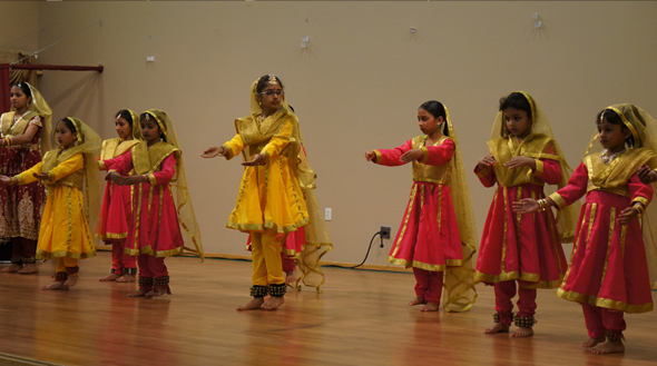 Kids performig during the annual talent program, hosted by Shri Natraj school of Dance  at Shri Radha Krishna temple on Sunday May 19.