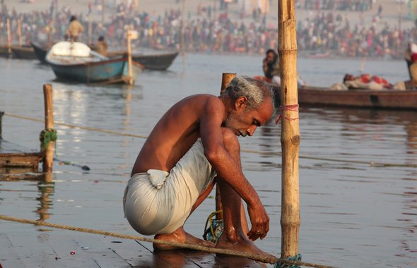 Pictures from the kumbh mela of Allahabad.