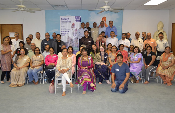 Sewa International Family Services Team with invited guests.