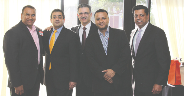 Circle of Influence Members: From left: Reji Varghese, Vivek Mehta, Zarir Sethna, Swapan Dubey, MD, Ajit John