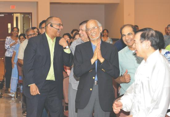 Stephen Findley with Dr. Seva Singh Legha.