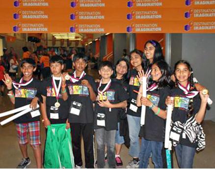 """The PDH Brainwaves"" award winners are (l-r): Aditya Shankar Arnav Jain, Pranav Uppiliappan, Raj Shah, Purvi Shah (co-team manager), Lata Jindal (team manager), Maya Shah, Shubra Tiwari and Shreya Jindal.Read more at http://www.indiawest.com/news/11680-sf-bay-area-students-win-renaissance-award.html#42bgL4GGezktO8Gc.99"