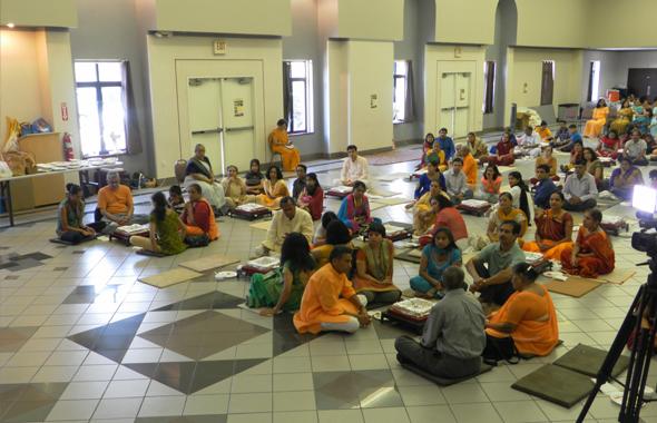 Those who participated in the 24 kundi Gayatri maha yaghya last Saturday, July 6.