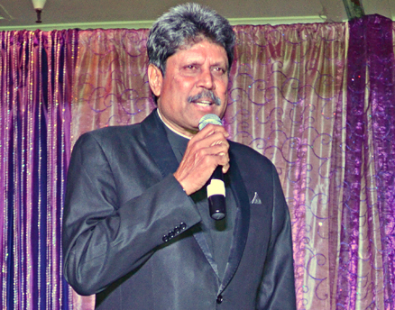 "Kapil Dev addressing the audience at ""IndiaNow 2013."" Read more at http://www.indiawest.com/news/11778-cricketer-kapil-dev-headlines-indianow-2013-gala.html#i8SJywYapMOm3tUF.99"