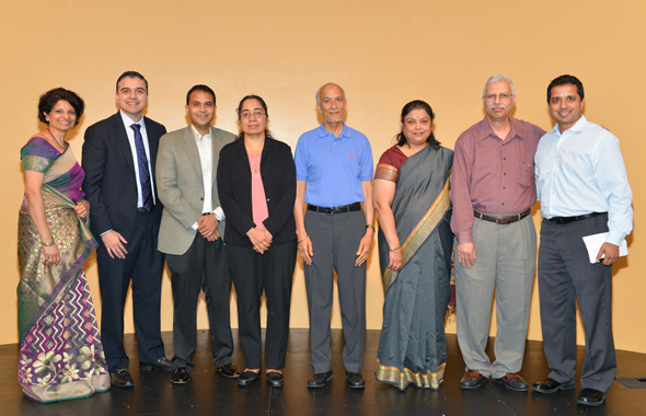 Kanchan Kabad, President IACAN, Dr. Ali Mahmood, Dr. Sagar Naik, Dr. Savitri Krishnamurthy, Dr. Sewa Singh Legha, extreme right Dr. Shakin Shah with guests.           Photo: Bijay Dixit
