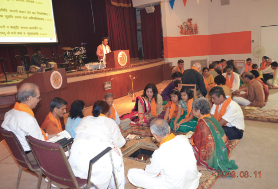 The chanting of mantras and the offering of rituals in three chatur veda yajnas were performed at the Arya Samaj Society on August 10 and 11. Several bhajans were sung beautifully over the two days. The occasion was to commemorate the 22nd Foundation Day or Sthapana Divas of the Arya Samaj Society of Greater Houston.