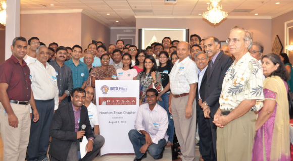 BITSAA International, USA: Houston Chapter inaugurated by Consul General P. Harish (third from right).