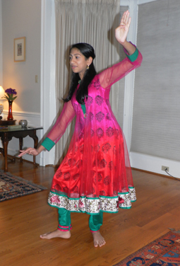 Riya Mandalpu danced for the IFFH guests.