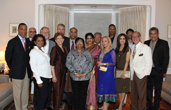 Consul General P. Harish along with his wife, Nandita hosted a Curtain Raiser for the 5th Annual Indian Film Festival of Houston on August 22. In picture, the IFFH Board and guests at the curtain raiser at Consul General Harish's home.