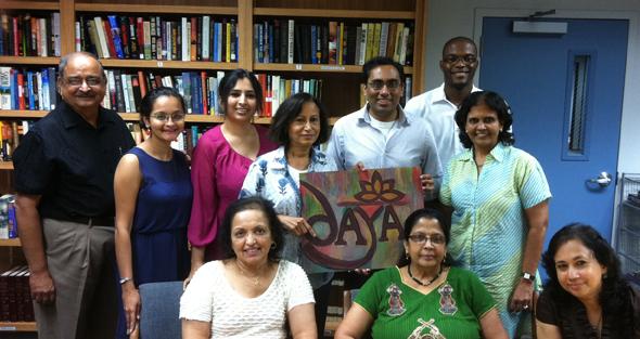 Seated from left : Jyoti Kulkarni, Padmini Nathan and Viji RamanStanding from left : Sesh Bala, Vyoma Majmudar-Banker, Abhilasha Vineet, Shaila Patel, Arpan Shah, Stephane Dissake and Lakshmy Parameswaran.