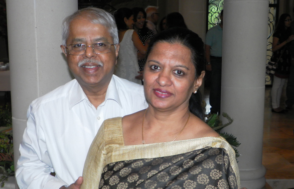 Dr. Roy Santosham and Cheruba, Raj's sister, escorted David back to Chennai with them last Sunday.