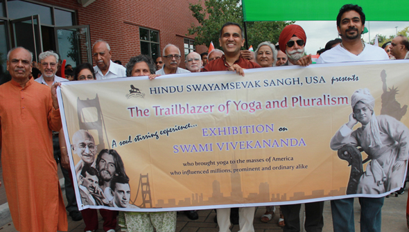 ICC India fest parade banner about Swami Vivekananda, a must see exhibition. Photo: Vijay Pallod