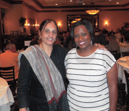 FHF Board member Panna Bhatia with Comedy Central comedian Erin Jackson who performed her routine on Sunday evening.