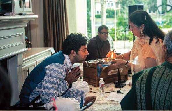 Upma Shah (right) with Omkar Dave.     Photo: Navin Mediwala