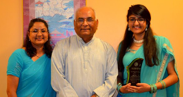 Dr Pathak with Radha and Nupur Dixit.