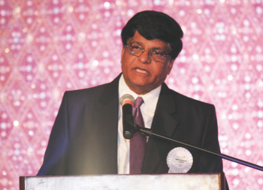 IACF President Murthy Divakaruni spoke briefly about his term's achievements.