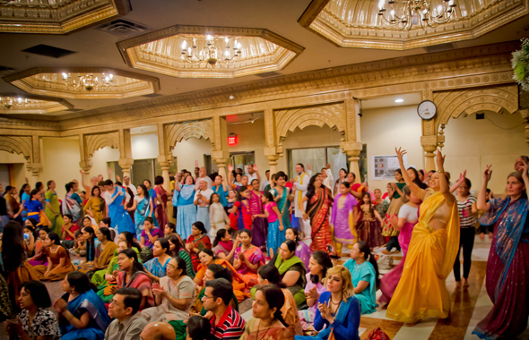 Devotees Celebrating Radhastami