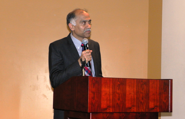 Indian Consul General Parvathaneni Harish spoke glowingly of Gov. Haley's achievements.